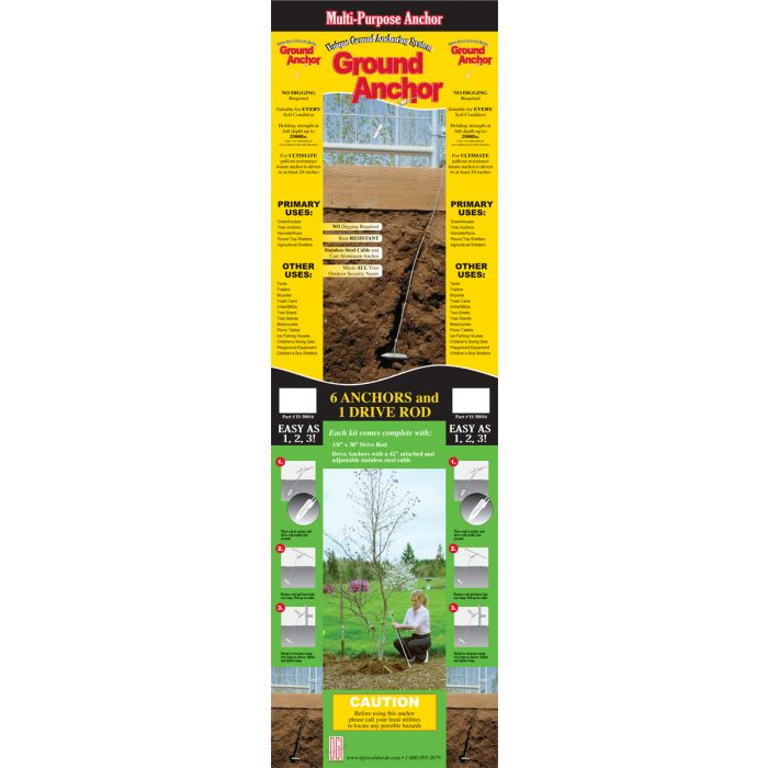 Weatherguard Multi-Purpose Ground Anchor | Spring Gardener