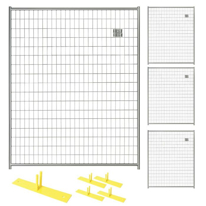 Silver Temporary Security Fence Panel Kits |Perimeter Patrol
