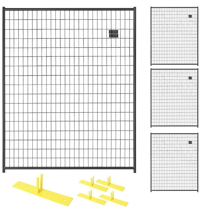 Black Temporary Security Fence Panel Kits | Perimeter Patrol
