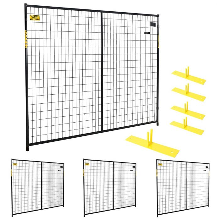 Security Multi-Panel Black Fence Kits | Perimeter Patrol