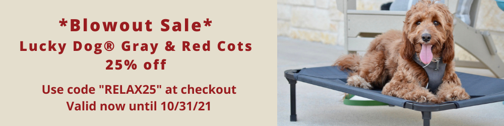 All Lucky Dog Cots 25% off