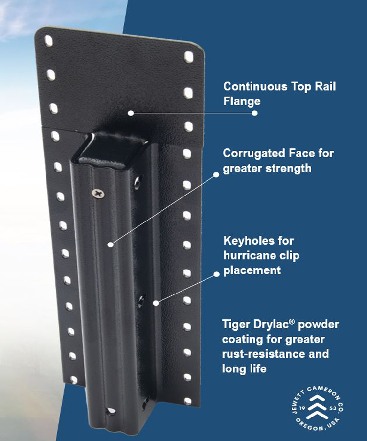 """Lifetime Steel Post™ - 7'6"""" Black Post with Double Powdercoat Finish"""