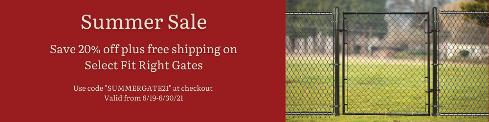 Summer Sale Promo - Save 20% off plus free shipping on Select Fit Right Gates